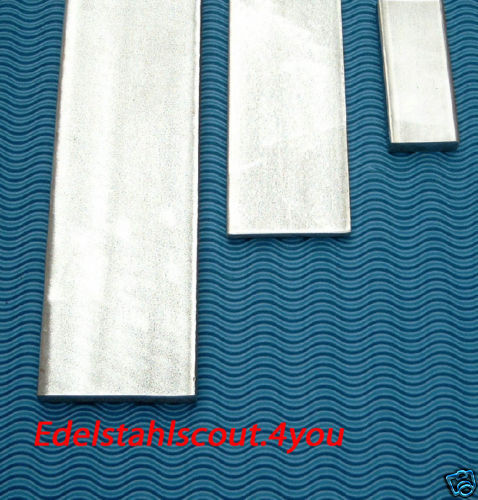 Grundpreis:13,00€//m 50cm VA Edelstahl V2A Flachstahl 40x6 mm