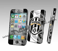 IPHONE 5 SKIN COVER ADESIVA PELLICOLA PROTEZIONE 3D SQUADRE CALCIO JUVENTUS JUVE