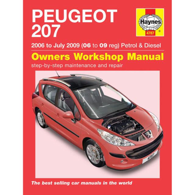 peugeot 207 haynes manual 2006 to 2009 petrol diesel ebay rh ebay co uk peugeot 207 hdi service manual pdf peugeot 207 user manual pdf