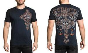 Xtreme-Couture-Men-039-s-Ironwork-Tee-Shirt-Dark-Navy
