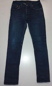 NUDIE-JEANS-Men-039-s-GRIM-TIM-ORG-DRY-INDIGO-Comfort-Stretch-Jeans-30W-x-32L