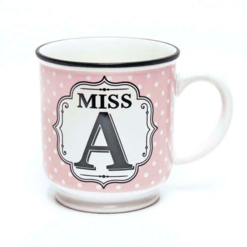 Personalised Alphabet Mug Miss /'A/' Birthday Gift Tea Coffee Stoneware Mug
