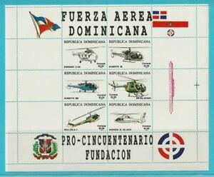 République Dominicaine De 1996 ** Cachet Minr. 1802-1807 50 J. Luftwaffe-afficher Le Titre D'origine