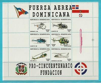Dominikanische Republik Aus 1996 ** Postfrisch Minr. 1802-1807 50 J. Luftwaffe