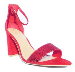 Damen New Look Schwarz Gold Rot Schnalle Glitzer Party Absatz Schuhe