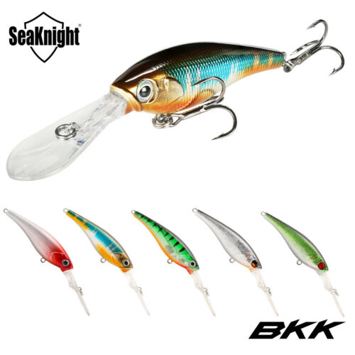 Fishing Bait Minnow Lure Crankbait Deep Diving 3D Eye Bass Trout Pike 6.2g 62mm