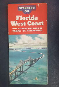 Florida West Coast Road Map KYSO Oil Gas Tampa St Petersburg - Florida west coast map