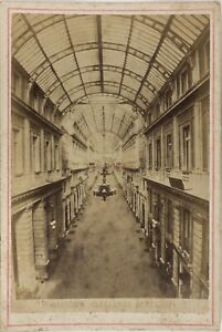 Genoa-Galleria-Mazzini-Italia-Foto-PL17c2n1-Cartolina-Armadio-Vintage-Albumina