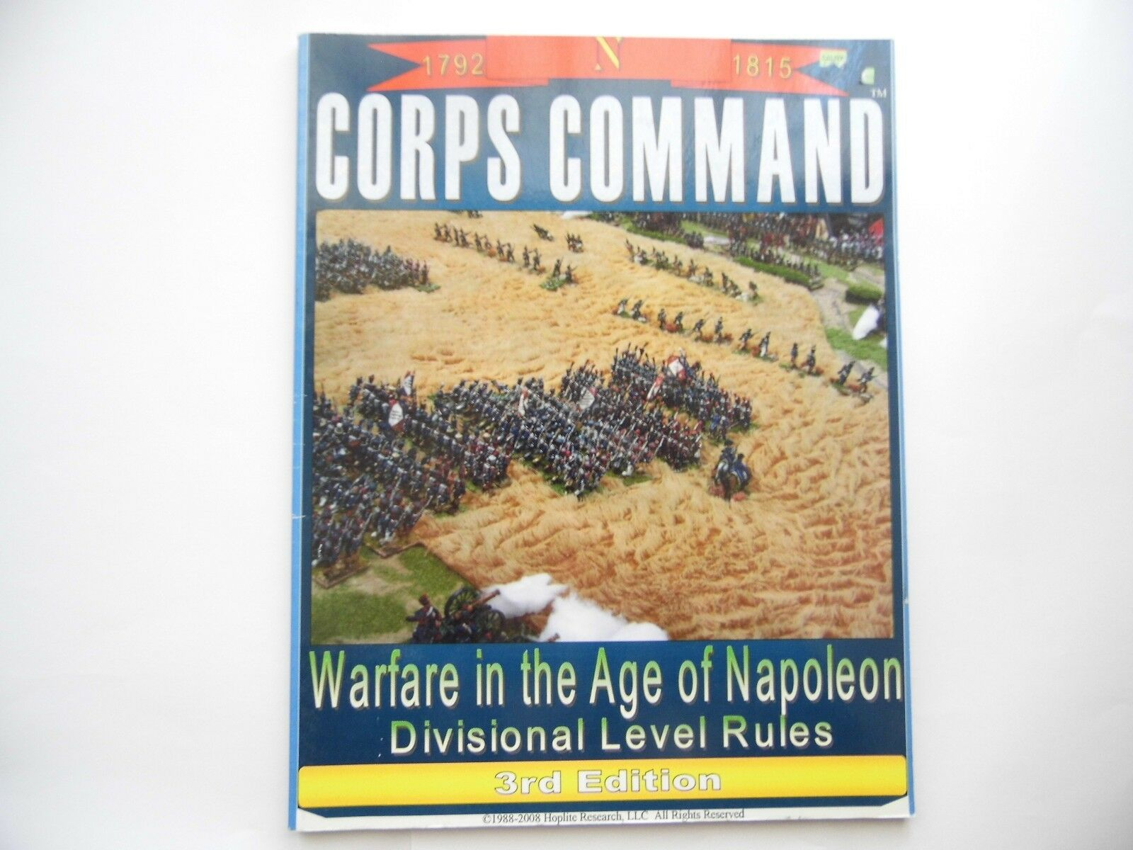 CORPS COMMAND - DIVISIONAL LEVEL RULES 3RD EDITION - WARGAMES RULES -USED