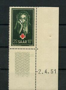 Germany-Saar-Saarland-vintage-yearset-1951-Mi-304-Br-Mint-MNH