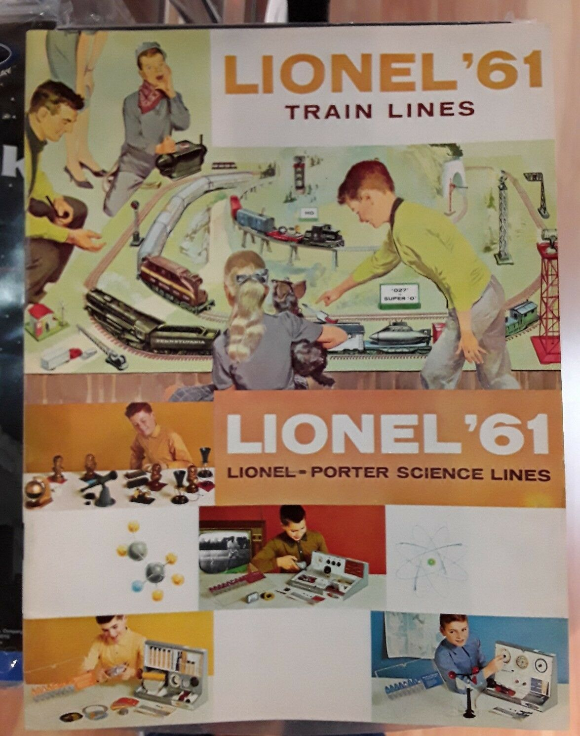 Lionel Train Lines Catalog 1961 full color good condition