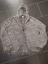 NEXT BROWN HOODED FRILL CARDIGAN SIZE XL