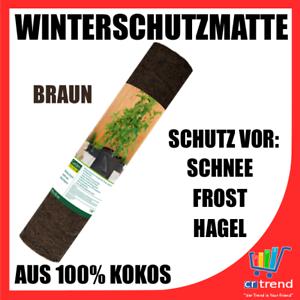 Winterschutzmatte 150 x 50cm Pflanzen Schutz Schnee Frost Hagel braun 100/% Kokos