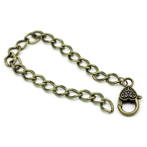N033 6 Link Chain Bracelets Bronze Tone Terrific Quality Perfect Base