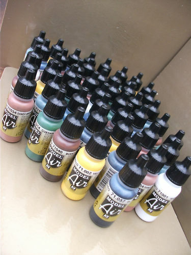 VALLEJO MODEL AIR ACRYLIC AIRBRUSH PAINTS CHOOSE ANY 50