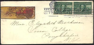 Fancy Rosette Nordamerika Sporting Us1905 Rockford Ill Gerade Lanze Mit Usa