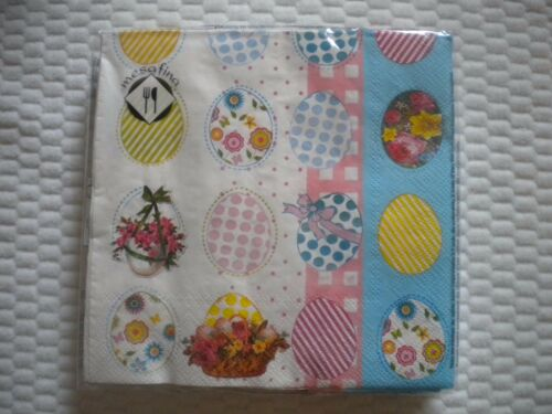 Mesafina Brand Paper Cocktail Napkins 20 count EASTER EGG Theme Germany