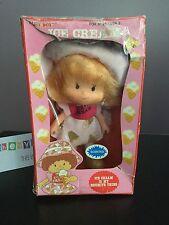 Vintage Strawberry Shortcake KO Blue Box Ice Cream Doll 1981 In Box