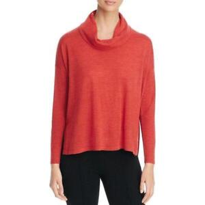 c0197313dc131 Image is loading NWT-Eileen-Fisher-L-Persimmon-Ultrafine-Merino-Cowl-