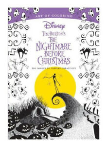 Art Of Coloring Tim Burtons The Nightmare Before Christmas 100 Images To Inspire Creativity By Disney Book Group Paperback 2017