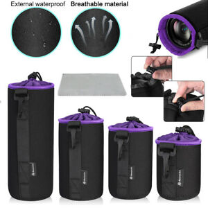 4-Pack-Neoprene-DSLR-Camera-Lens-Pouch-Protector-Bag-Case-Set-4-Size-Waterproof