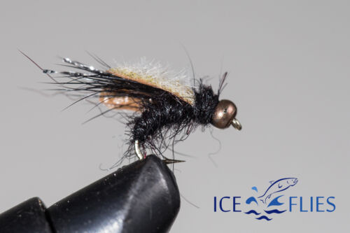 ICE FLIES. Nymph. Geiri, BH. pick a size. (4-pack). Available in size 8 - 14