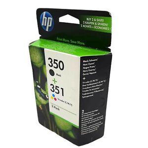 Genuine-HP-350-Black-CB335EE-HP-351-Tri-Colour-CB337EE-Ink-Set-Dated-2012