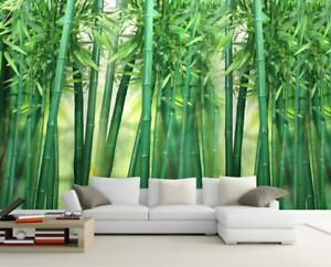 3D greener Bambus 875 Tapete Wandgemälde Tapete Tapeten Bild Familie DE Summer