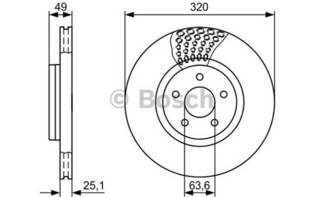 1x BOSCH Disco de freno delantero 319,8mm 0 986 479 660