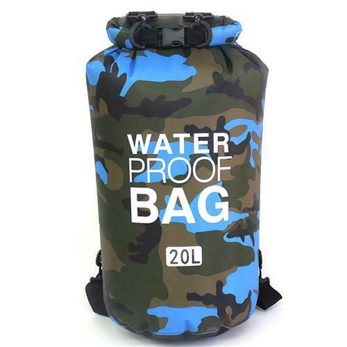 UK Camo 20L Heavy Duty Waterproof Bag Dry Bag Sack For Kayaking Boating Rafting