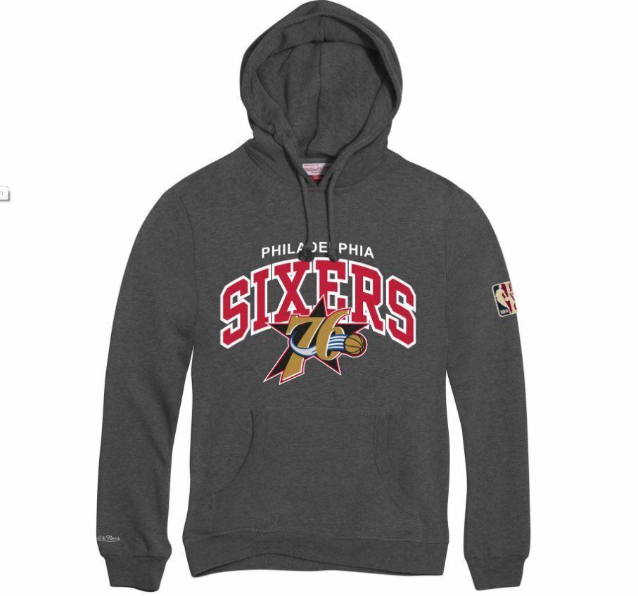 Mitchell und Ness Philadelphia Sixers  Hoody HWC hoodie grau grau