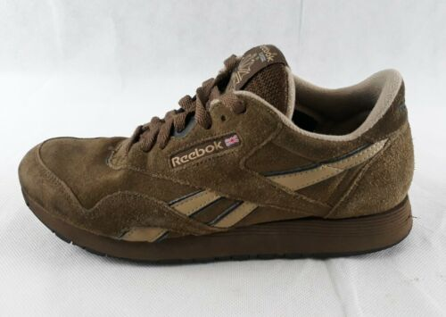 Reebok Mens Classic Brown Leather Sneaker Shoes Si