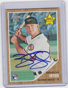 Signed Baseball Card Autograph Brandon Snyder Orioles