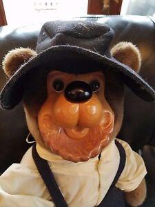 "Robert Raikes Rare Amish Bear Wood Face Collectible Teddy Bear 20"""