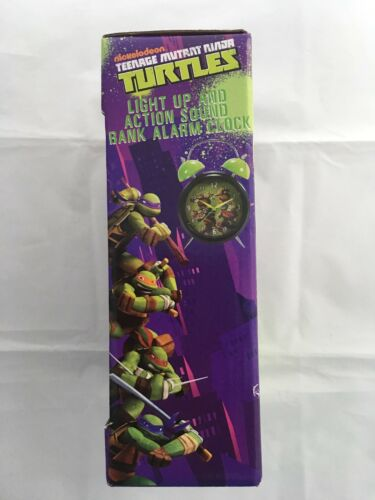 Teenage Mutant Ninja Turtle Light Up and Action Sound Bank Alarm Clock