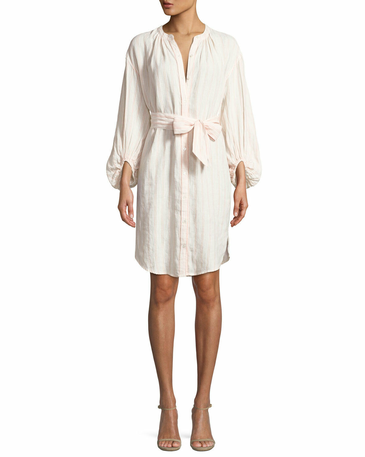 NEW Joie Beatrissa Dress in Ivory Pink - Size M
