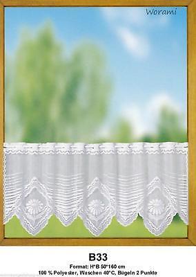 Kurzgardinen Scheibengardinen Bistrogardinen Panneaux Landhausgardinen Set B33