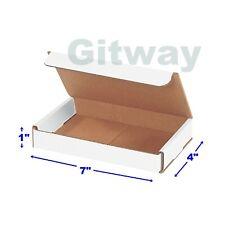 50 Pcs Of 7x4x1 White Corrugated Carton Cardboard Shipping Mailer Box Boxes