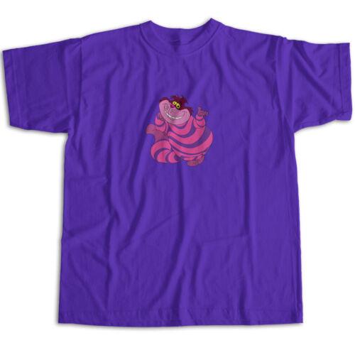 Alice in Wonderland Disney Cheshire Cat Cute Classic Cartoon Unisex Tee T-Shirt