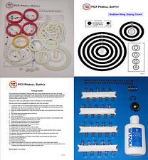 1982 Zaccaria Soccer Kings Pinball Machine Tune-up Kit - Includes Rubber Rings!