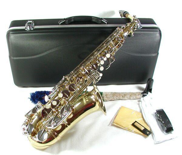 Cherrystone Alt Saxophon Gold silber mit Koffer und Zubehör LN