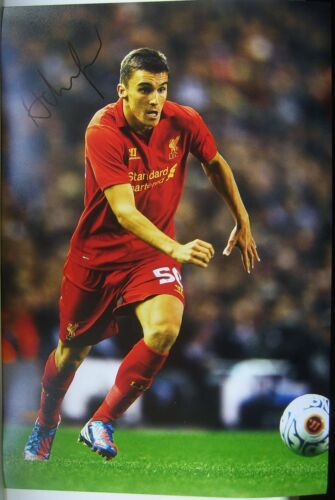 Adam Morgan signed Liverpool 12x8 COA