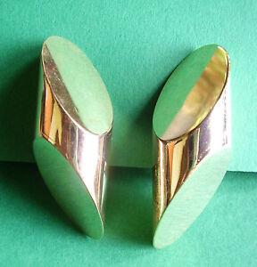 184 - BOUCLES D'OREILLE CLIPS EN METAL DORE B9pnaM4D-07223838-372651594