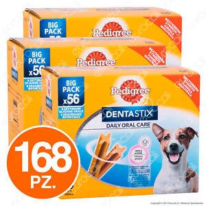 Pedigree-Dentastix-Small-per-l-039-igiene-orale-del-cane-3-Confezioni-da-56-Stick