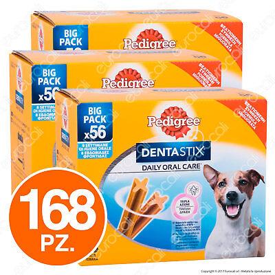 Pedigree Dentastix Small per l'igiene orale del cane - 3 Confezioni da 56 Stick