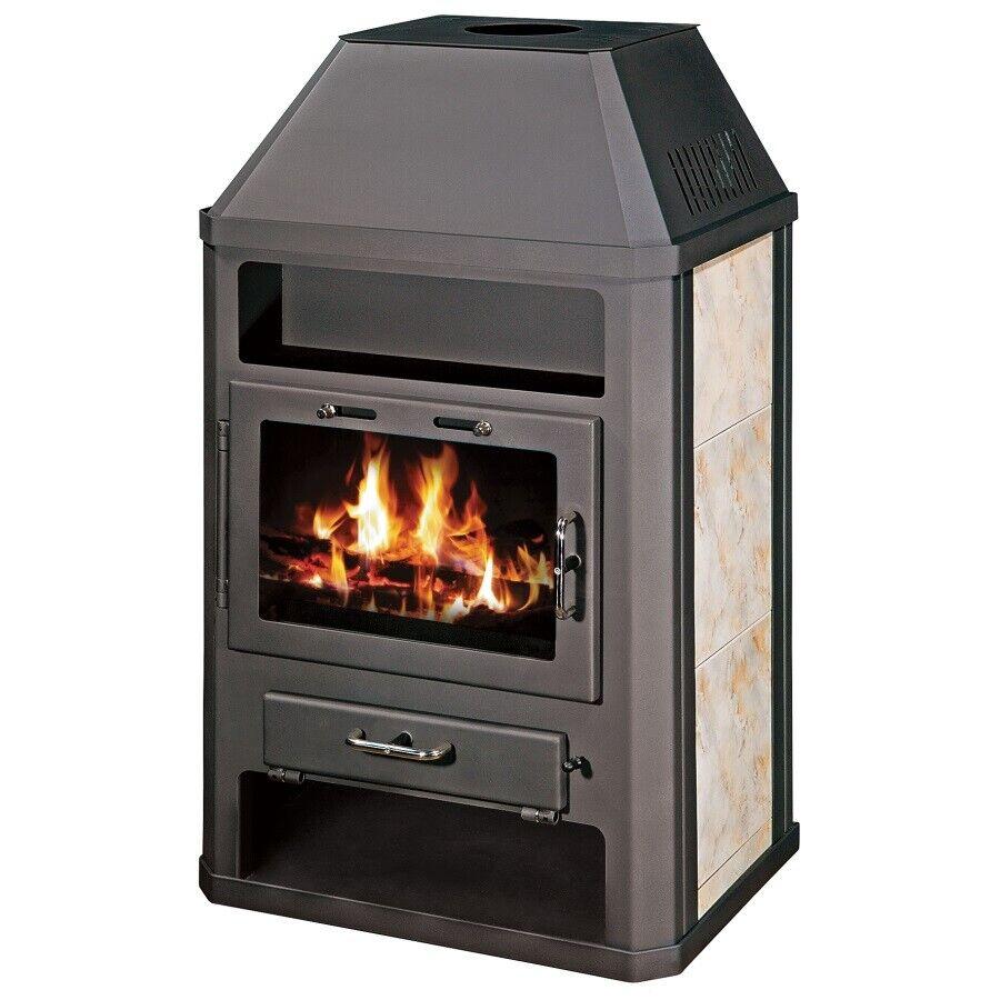 Stufa A Legna Stile Inglese dettagli su stufa a legna con integrale boiler 6+7 kw arco combustibile  solido - grande ab