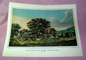 591ms-VTG-Reproduction-lithographie-Currier-amp-IVES-automne-en-New-England