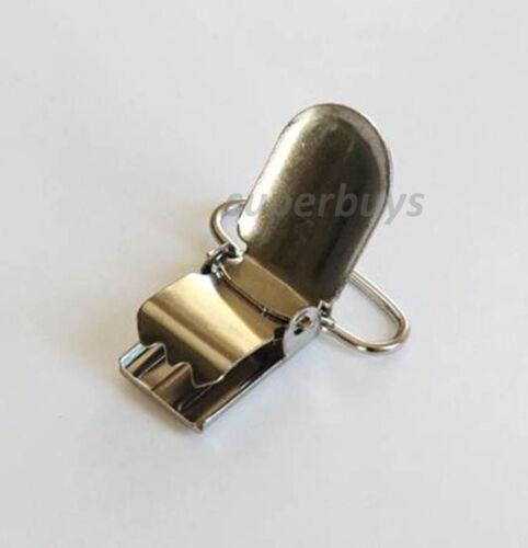 1 5 50 Lead Free Suspender Bib Pacifier Dummy Clip Buckle Ribbon Teething Sew S
