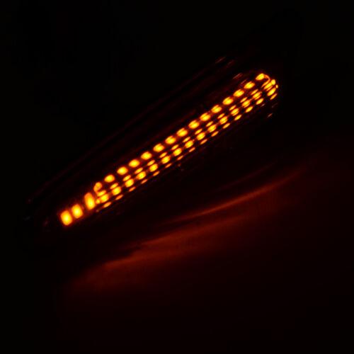 2Pcs LED Side Marker Turn Indicator Lights Lamp Fits For BMW E46 E60 E61 E81 E82