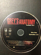 Grey's Anatomy - Season 1 Disc 1 Only (DVD, 2006, )DVD Disc Only - Replacement D